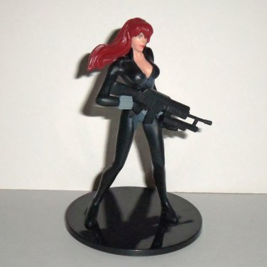 Marvel Monogram 2012 Black Widow Action Figure on Stand Loose Used