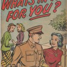 What's in it for You? #0 Harvey Comics 1950 GD