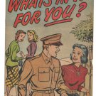 What's in it for You? #0 Harvey Comics 1950 FR