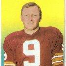 1970 Topps Football Cards Glossy Inserts #20 Sonny Jurgensen Washington Redskins GD
