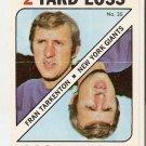1971 Topps Football Cards Game Inserts #35 Fran Tarkenton New York Giants GD