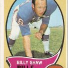 1970 Topps Football Card #229 Billy Shaw Buffalo Bills GD