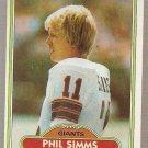 1980 Topps Football Card #225 Phil Simms RC New York Giants EX-MT