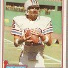 1981 Topps Football Card #405 Ken Stabler Houston Oilers EX
