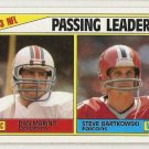 1984 Topps Football Card #202 Passing Leaders Dan Marino Steve Bartkowski NM