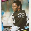 1984 Topps Football Card #98 Marcus Allen Team: Los Angeles Raiders NM