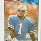1987 Topps Football Card #307 Warren Moon Houston Oilers NM