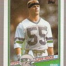 1987 Topps Football Card #144 Brian Bosworth RC Seattle Seahawks NM B