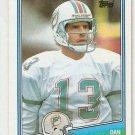 1987 Topps Football Card #190 Dan Marino Miami Dolphins NM