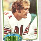 1976 Topps Football Card #116 Jackie Smith St. Louis Cardinals EX