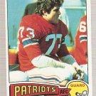 1975 Topps Football Card #318 John Hannah New England Patriots VG