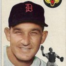 1954 Topps Baseball Card #88 Matt Batts Detroit Tigers GD
