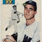 1954 Topps Baseball Card #97 Jerry Lane RC Washington Senators FR