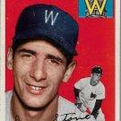 1954 Topps Baseball Card #114 Dean Stone RC Washington Senators GD