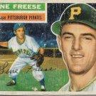 1956 Topps Baseball Card #46 Gene Freese Pittsburgh Pirates PR