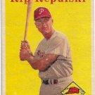1958 Topps Baseball Card #14 Rip Repulski Philadelphia Phillies FR