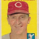 1958 Topps Baseball Card #27 Bud Freeman Cincinnati Redlegs FR