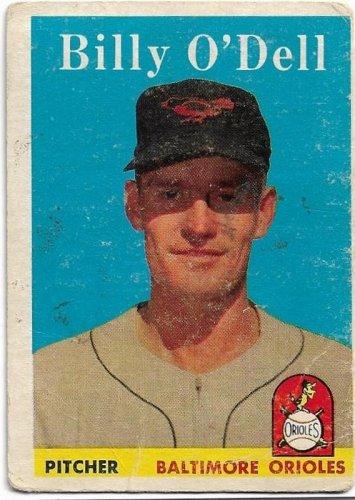1958 Topps Baseball Card #84 Billy O'Dell Baltimore Orioles FR