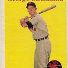 1958 Topps Baseball Card #102 George Strickland Cleveland Indians FR