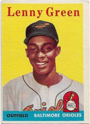 1958 Topps Baseball Card #471 Lenny Green RC Baltimore Orioles FR