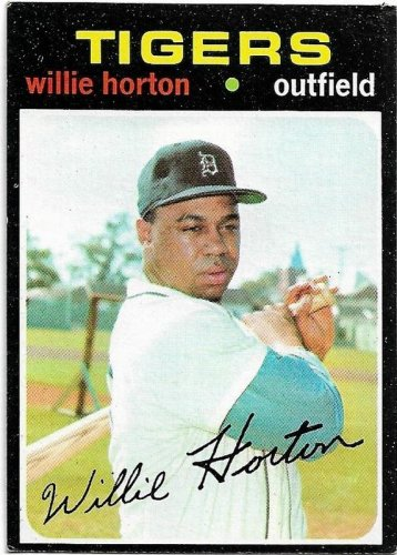 1971 Topps Baseball Card #120 Willie Horton Detroit Tigers VG