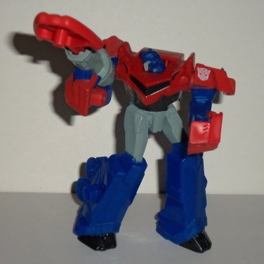 McDonald's 2016 Transformers Optimus Prime Robot Mode Figure w/ Missile Happy Meal Toy Loose Used