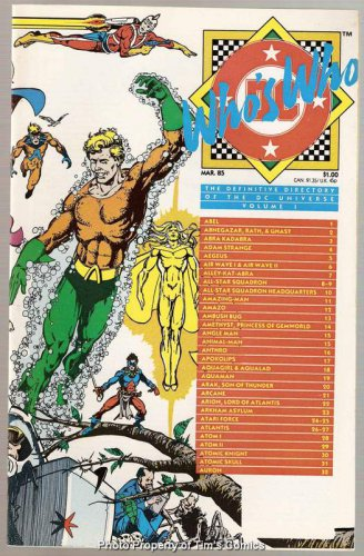 Who's Who Definitive Directory of the DC Universe #1 DC Comics March 1985 NM