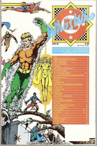 Who's Who Definitive Directory of the DC Universe #1 DC Comics March 1985 VF