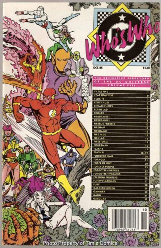 Who's Who Definitive Directory of the DC Universe #8 DC Comics Oct 1985 VF