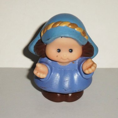 Fisher-Price Little People Mary Figure For K6434 Children's Nativity Set Christmas Jesus Loose Used