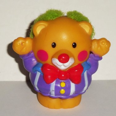 Fisher-Price Little People Touch & Feel Circus Bear Figure Loose Used
