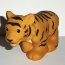Fisher-Price Little People #CHD22 Tiger Figure Mattel 2011 Loose Used