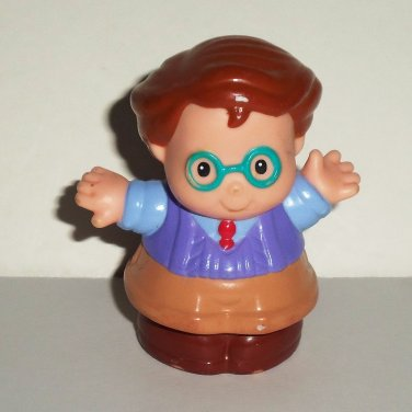 Fisher-Price Little People John the Dad Figure from 72766 Home Sweet Home Set Mattel 1997 Loose Used