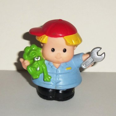 Fisher-Price Little People Eddie Mechanic Figure Mattel 2002 Loose Used