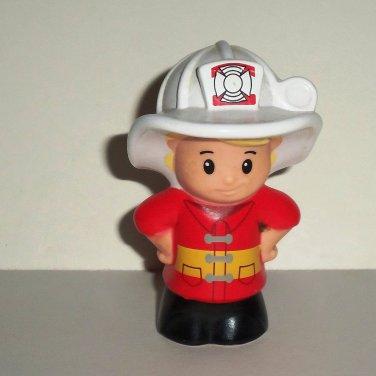 Fisher-Price Little People C4312 Firefighter Eddie Figure Mattel 2012 Loose Used