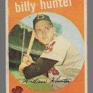 1959 Topps Baseball Card #11 Billy Hunter Cleveland Indians GD