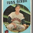 1959 Topps Baseball Card #344 Russ Nixon Cleveland Indians GD