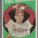 1959 Topps Baseball Card #382 Curt Simmons Philadelphia Phillies GD