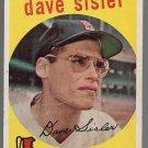 1959 Topps Baseball Card #384 Dave Sisler Boston Red Sox GD