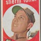 1959 Topps Baseball Card #385 Sherm Lollar Chicago White Sox GD