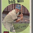 1959 Topps Baseball Card #388 Bob Will RC Chicago Cubs GD A