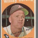 1959 Topps Baseball Card #392 Whitey Herzog Kansas City Athletics GD