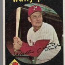 1959 Topps Baseball Card #398 Wally Post Philadelphia Phillies GD B