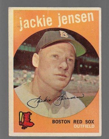 1959 Topps Baseball Card 400 Jackie Jensen Boston Red Sox Gd