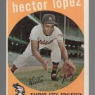 1959 Topps Baseball Card #402 Hector Lopez Kansas City Athletics GD A