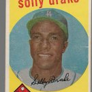 1959 Topps Baseball Card #406 Solly Drake Los Angeles Dodgers GD