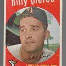 1959 Topps Baseball Card #410 Billy Pierce Chicago White Sox GD B