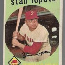 1959 Topps Baseball Card #412 Stan Lopata Philadelphia Phillies GD B