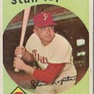1959 Topps Baseball Card #412 Stan Lopata Philadelphia Phillies GD A