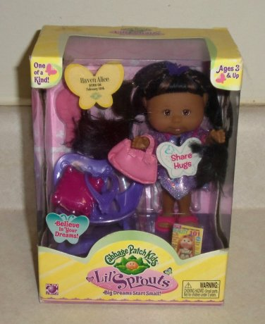 Cabbage patch kids lil' sprouts haven alice doll play along jakks.